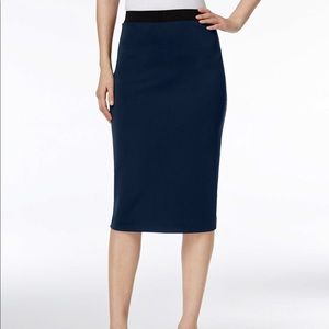 NWT Alfani Women's Navy Stretch Pencil Skirt A81